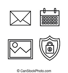 business set flat icons