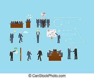 Business set for infographic design