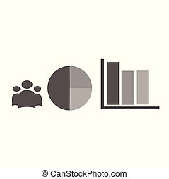 Business set icons - infographic. Analytics and business statistics, round diagram, graphs