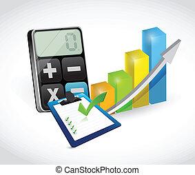 business set of tools illustration design