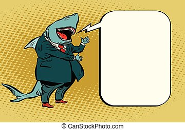 business shark comic bubble