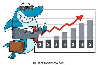 Business Shark Mascot Character
