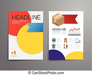 Business shopping brochure, flyer, magazine cover design template vector.layout education annual report A4 size.