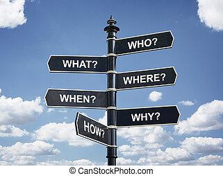 Business,  six, la plupart, commun,  questions,  Education