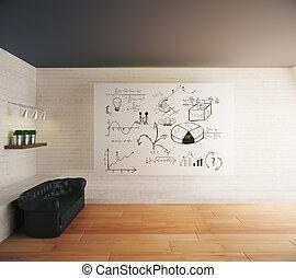 Business sketch in interior