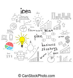 Business sketches: buildings, words and more - Business...