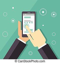 Business Smartphone Applications Illustration