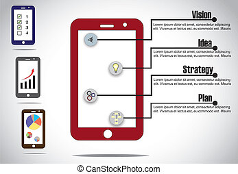 business, smartphone, infographics