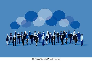 Business social and communication concept. People crowd