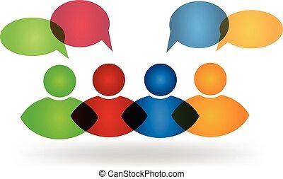 Business social media friends logo - Business social media ...