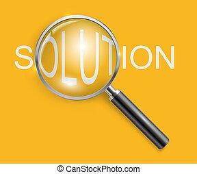 business, solution, concept, verre, magnifier