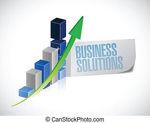business solution sign illustration design