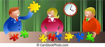 business solution - teamwork