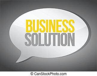 business solutions message illustration design