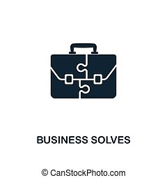 Business Solves icon. Creative element design from business strategy icons collection. Pixel perfect Business Solves icon for web design, apps, software, print usage