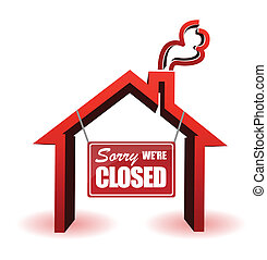 business sorry we are closed sign illustration design