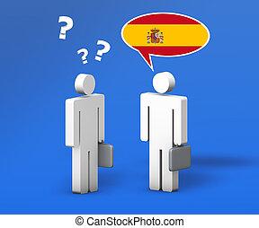 Business Spanish Language Concept