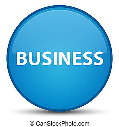 Business special cyan blue round button