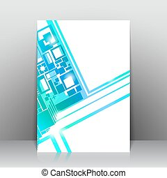 Business square background. Vector template