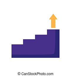 business stairs step arrow up