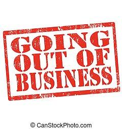 business-stamp, 出かけること