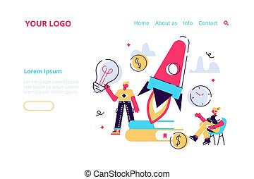 Business Start Up Concept for web page