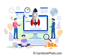 Business Start Up Concept for web page, banner, presentation, so