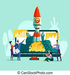 Business start up concept vector illustration