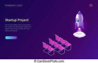 Business start up presentation isometric