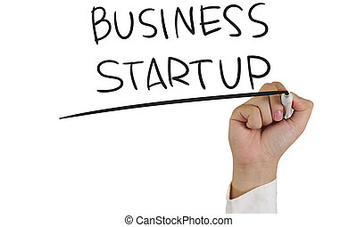 Business start up - Business concept image of a hand holding...