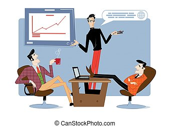 Business startup and communication abstract concept vector illustration. Startup hub, financial support, crowdfunding.