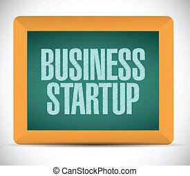 business startup message illustration design over a white...