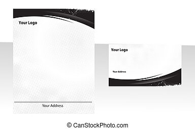 business stationery - Business stationery set.