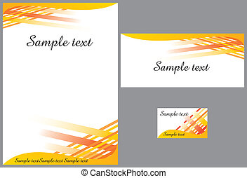 Business stationery template - contemporary business ...