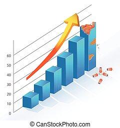 Business Statistic Bar Chart brick