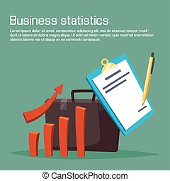 Business statistic or analytics with carts.