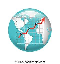 business statistics concept icon