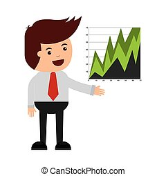 business statistics concept icon