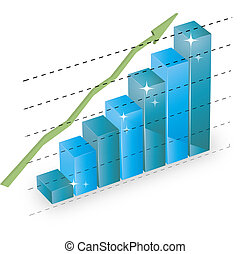 business statistics graph diagram w