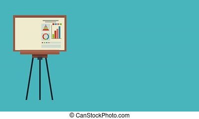 Business statistics on whiteboard HD animation - Business...