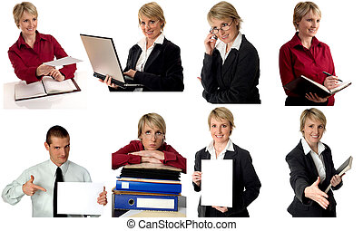 business - multiple business figures in various situations...