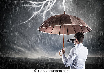 Business storm . Crisis concept