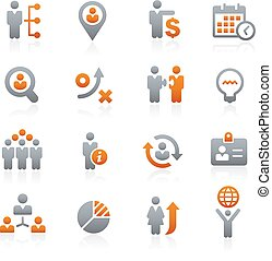 Business Strategies -- Graphite - Vector icons for your...