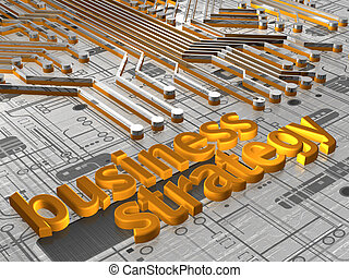 Business Strategy - 3D - Illustration about business...