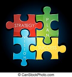 business strategy and plan - illustration of business...