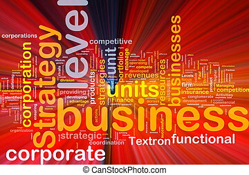 Business strategy background concept glowing