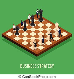 Business Strategy Chess Concept