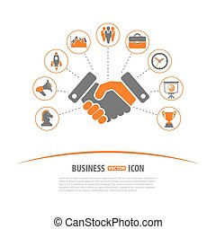 Business Strategy Concept - Business Strategy Vector Concept...