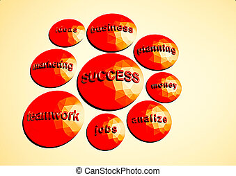 Business strategy concept. Illustration of components of successful business.