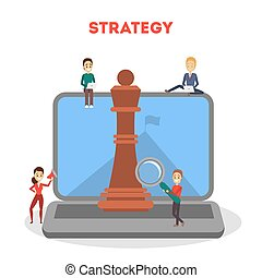 Business strategy concept. Marketing planning for success